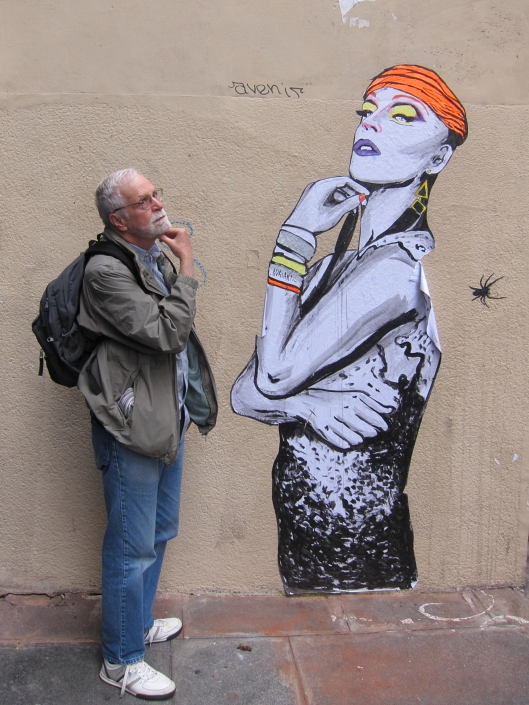 Bob and his new bff, rue des Jeûneurs.