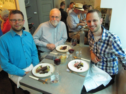 Chris, Bob and Matt with our third courses.