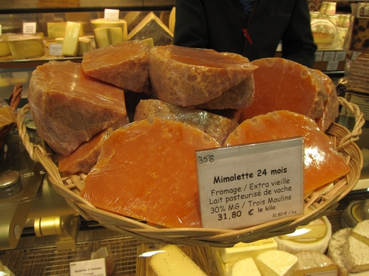 Mimolette aged goat cheese. Delish!