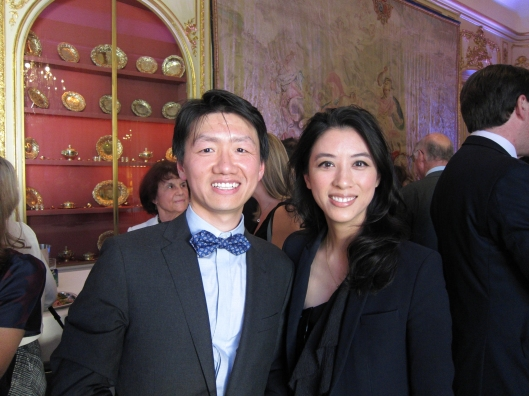 Zhizhong with one of the nice younger friends he's made through the Harvard Club of Paris.