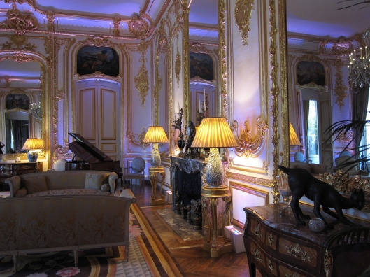Interior of the U.S. Ambassador's residence in Paris.
