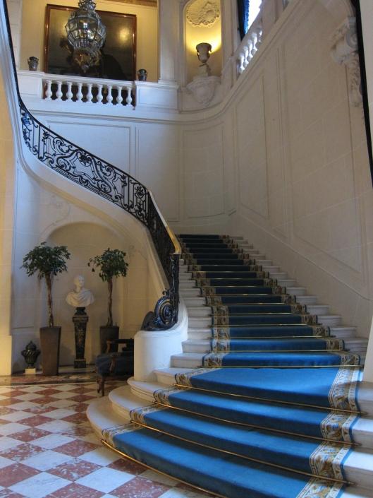 Interior of the U.S. Ambassador's residence in Paris.