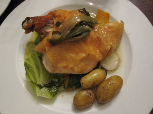 My tender poularde at Le Baratin. NOT to be called « poulet ».