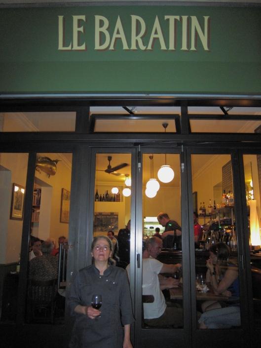 The chef outside Le Baratin.