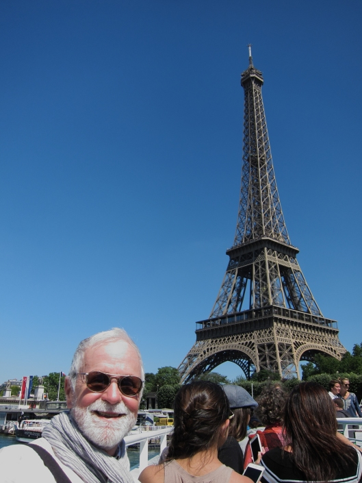 A selfie of me with the Eiffel Tower taken on a Bateau Mouche. The most touristy possible photo?