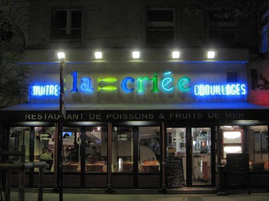 La Criée on Boulevard de Bonne Nouvelle.