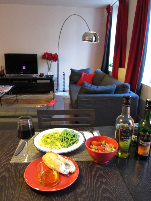 Home-cooked meal at 12 rue des Jeûneurs.