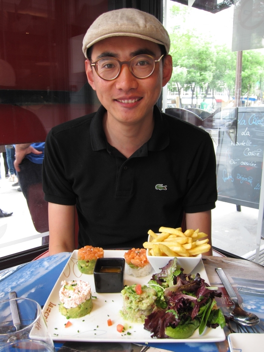 Yunpeng at lunch at La Criée.