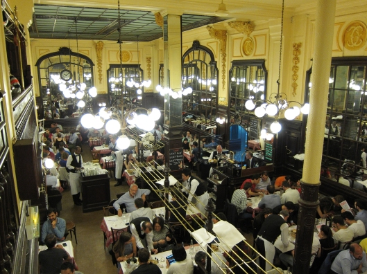 The dining room of Le Bouillon Chartier from the balcony.