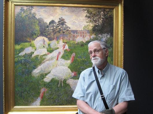 Me with a favorite Monet, Les Dindons.  Musée D'Orsay