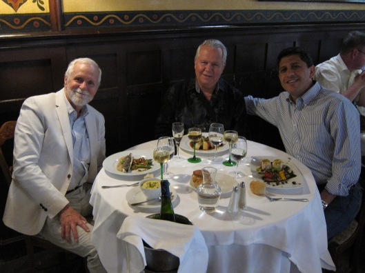 Bob, Gordon and Mustafa at Bofinger, Bastille.