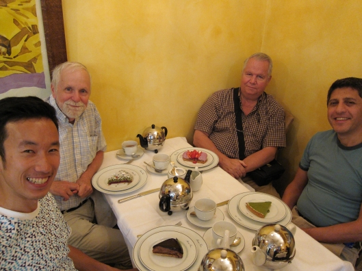 Kohei, Bob, Gordon and Mustafa at Mariage Frères.