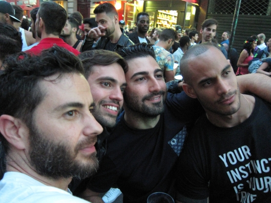 Selfie by friends we haven't made yet, la Fête de la Musique, Paris, June 21, 2015.