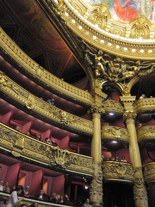 The ornate auditorium of the Palais Garnier.