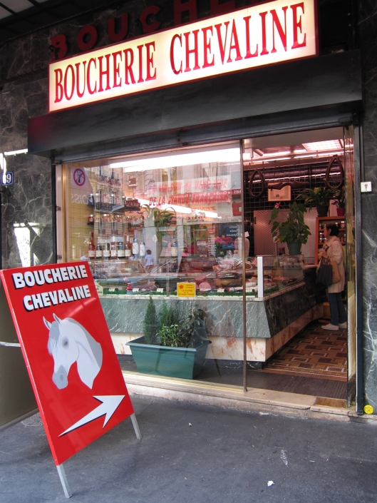 Horse butcher shop in the 15ème.