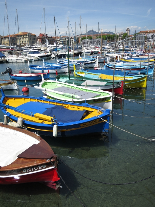 Small boats in Nice harbor.