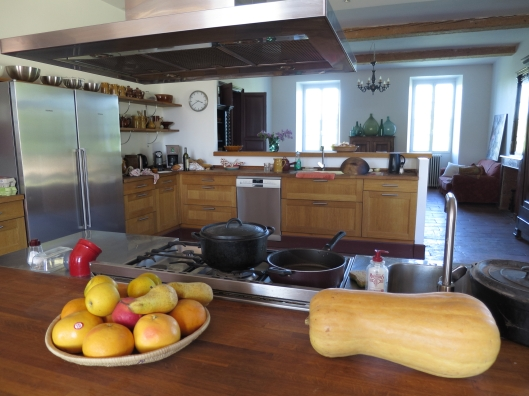 Only part of the enormous kitchen/dining/living room, which extends the entire depth of the house