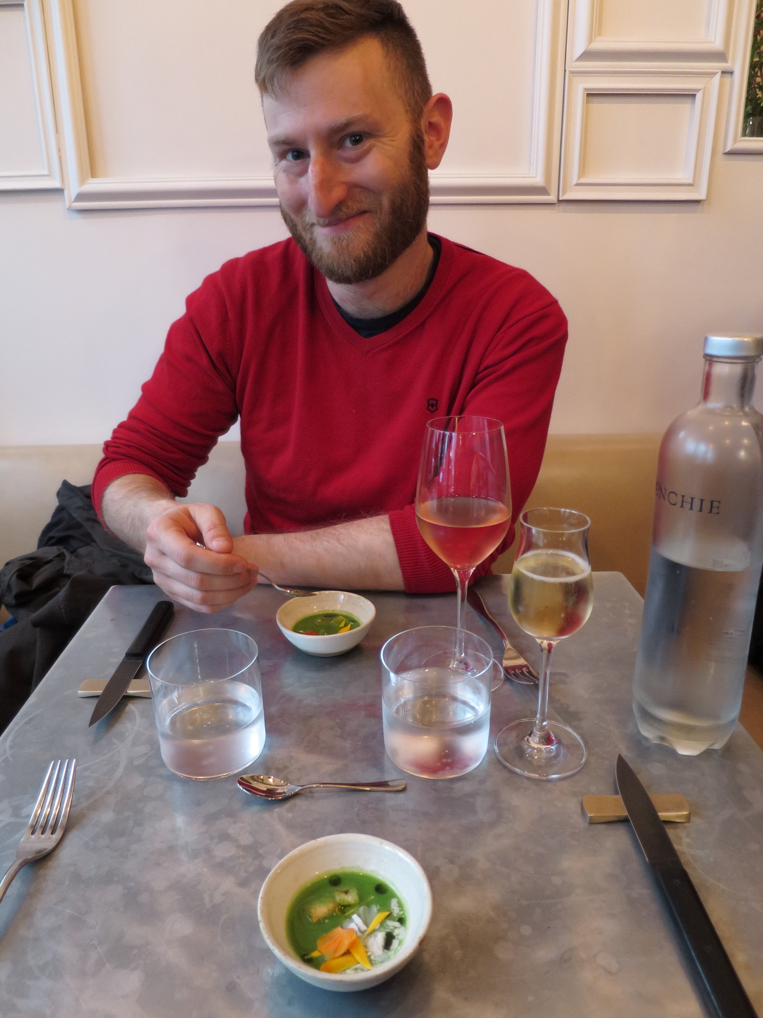 Jared with our amuse-bouches
