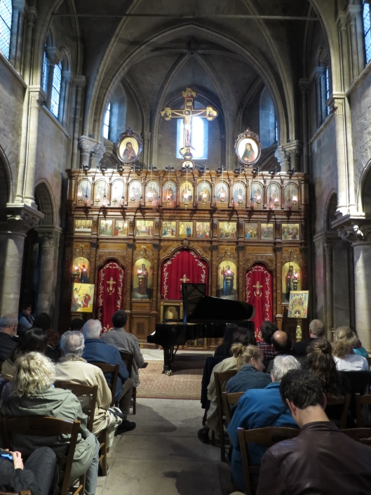The concert about to begin at the church of Saint-Julien le Pauvre in the 5ème.