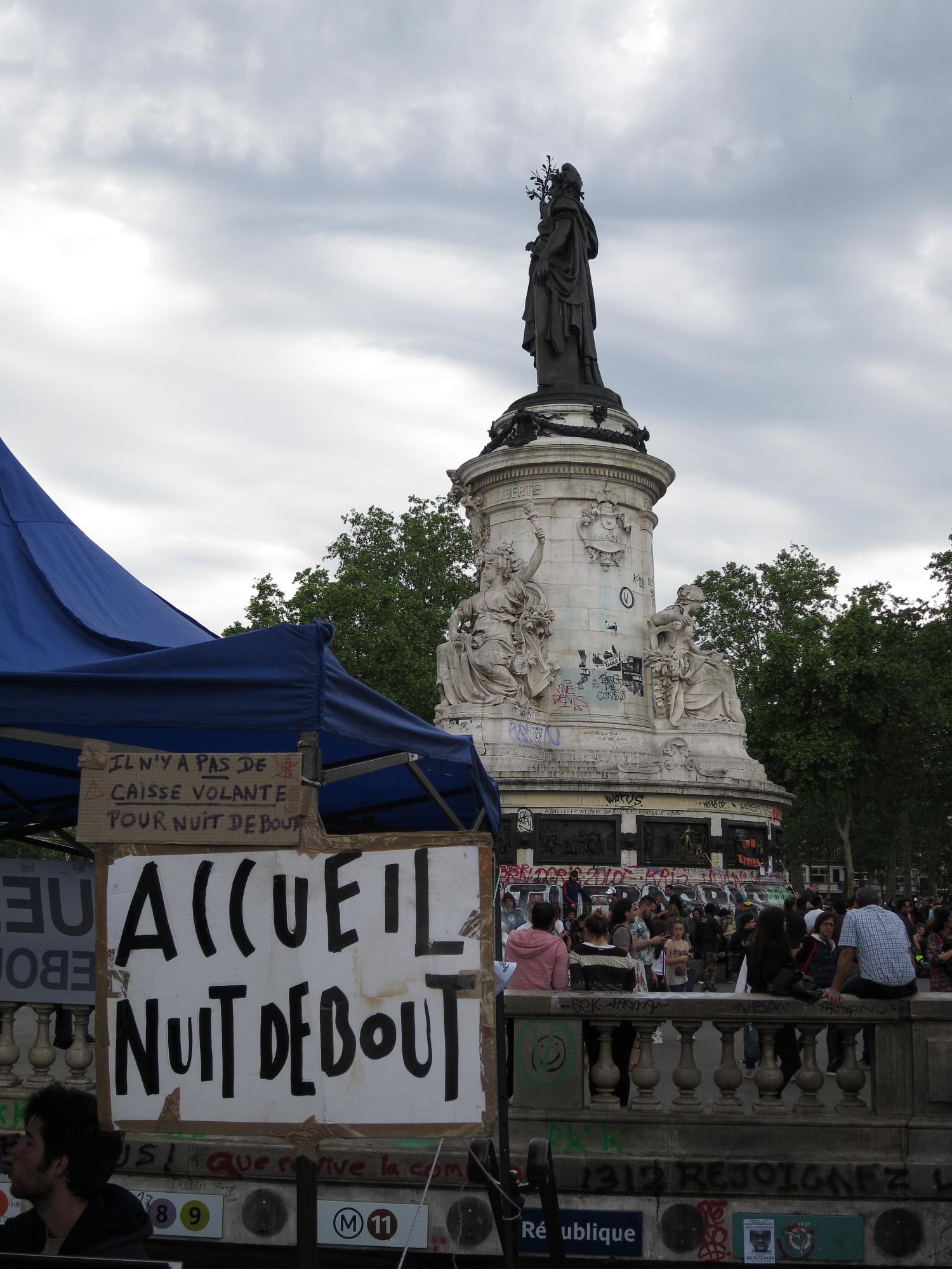 Nuit Debout protests at Place de la République