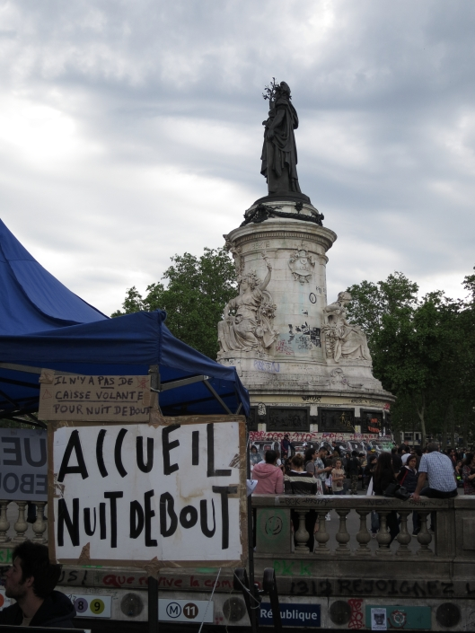 Nuit Debout protests at Place de la République