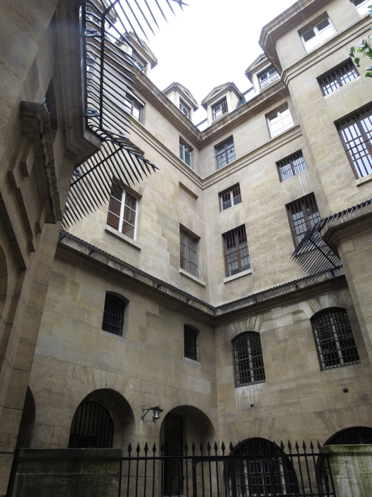 Somewhat unwelcoming courtyard at the Conciergerie