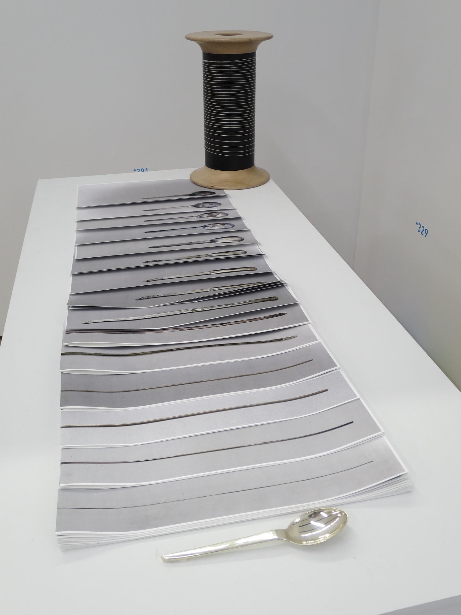 """""""Cuillère"""" (Spoon), 2015, Clarissa Baumann at the Salon de Montrouge"""