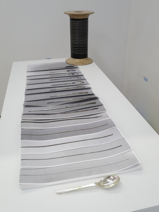"""Cuillère"" (Spoon), 2015, Clarissa Baumann at the Salon de Montrouge"