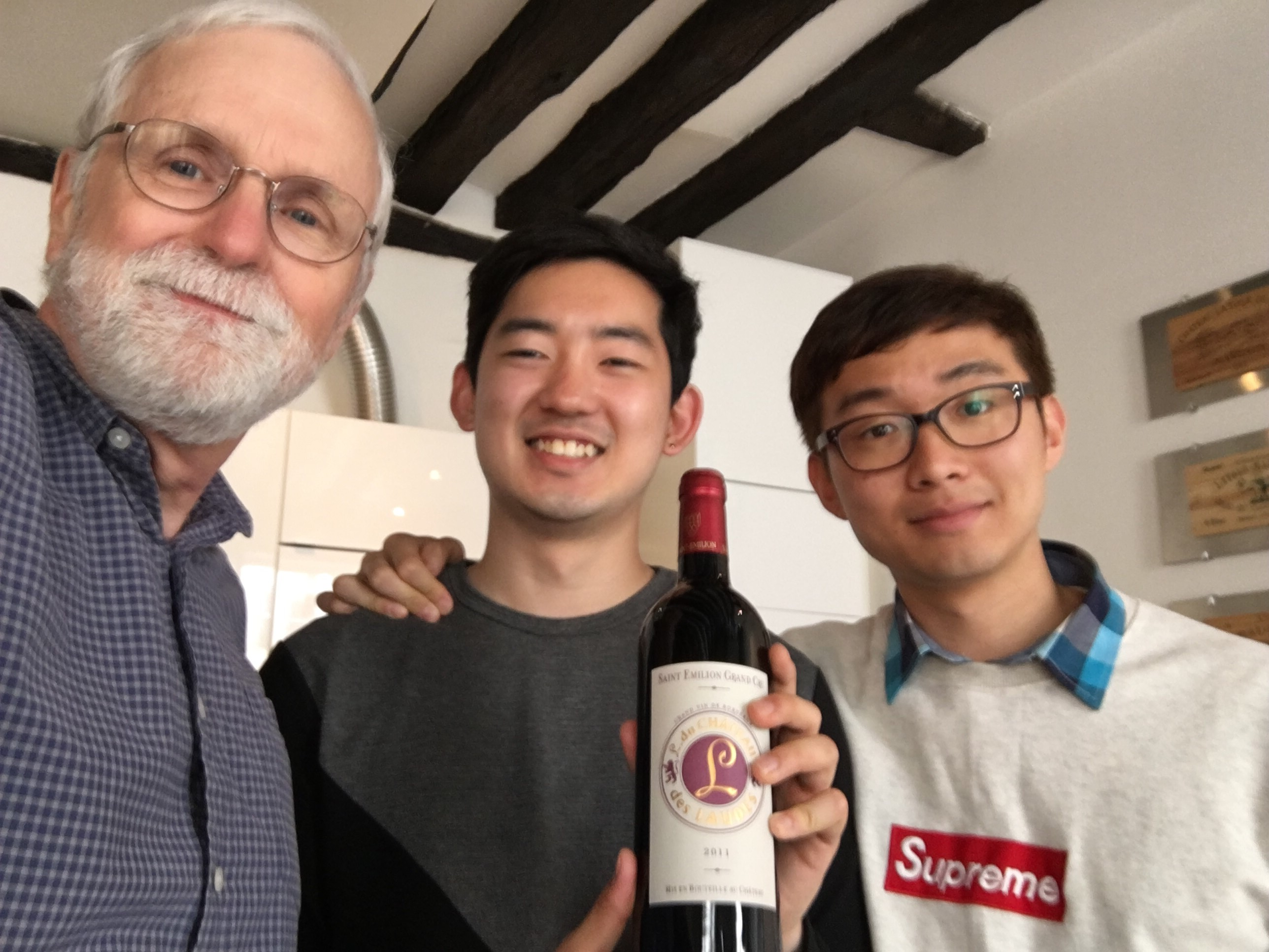 My new Korean friends with their bottle of Saint-Emilion Grand Cru.