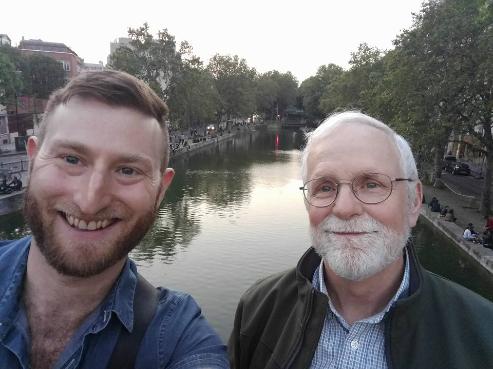 Jared W and me at the Canal Saint-Martin