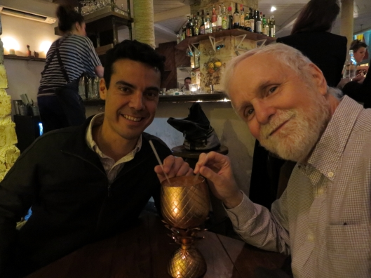 Arturo and Bob at Le Mary Celeste. (Photo credit Sherard)