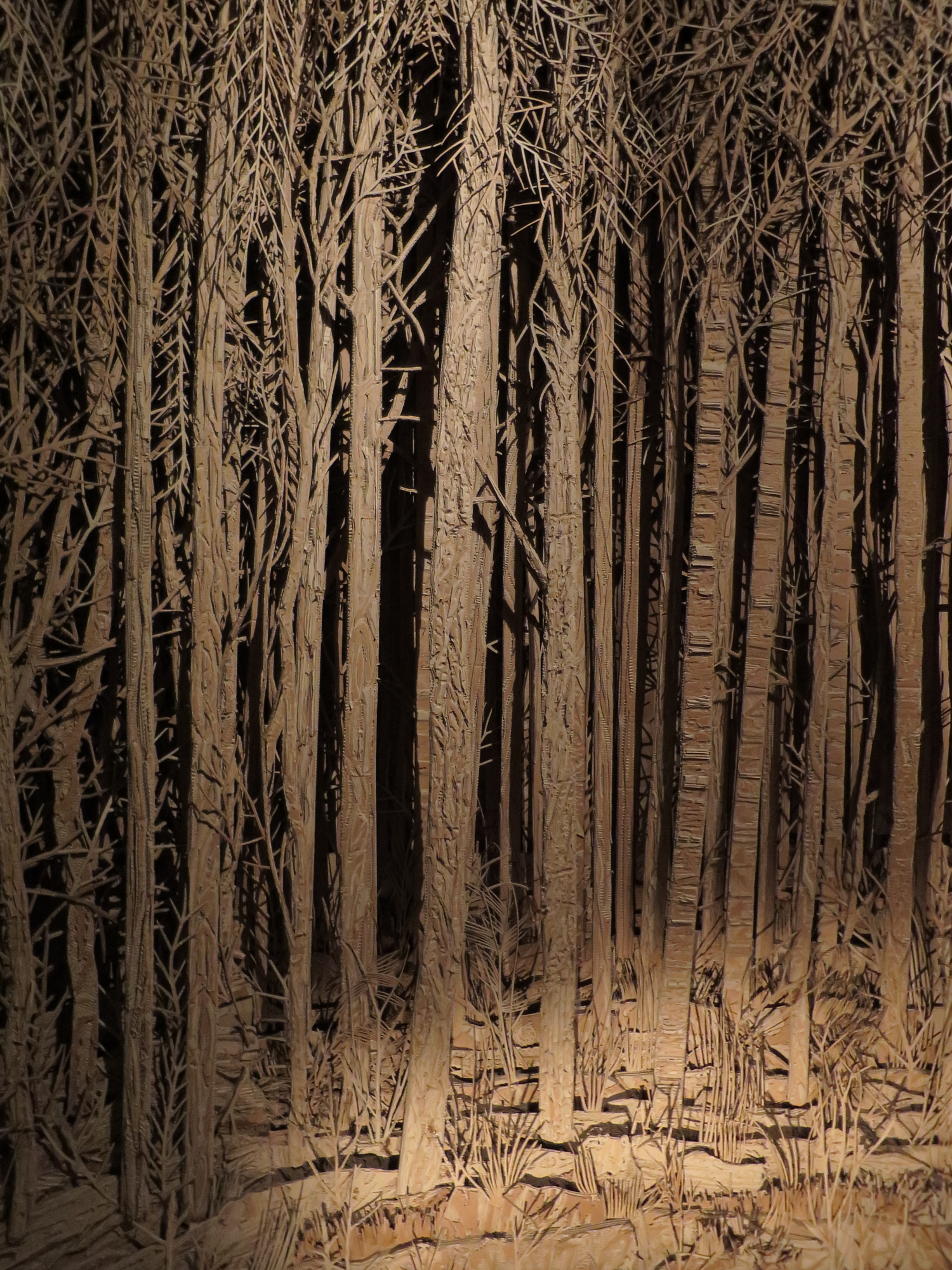 Inside Panorama by Eva Jospin you are in a cardboard forest
