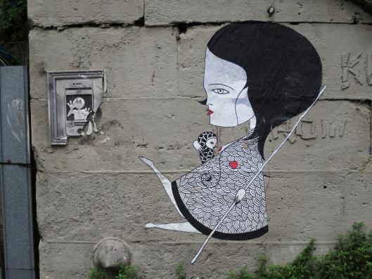 Street art along the Canal Saint-Martin