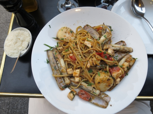 Seafood pasta dinner at La Bocca