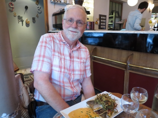 Bob's dinner at Le Verre Siffleur, 73, rue d'Alésia in the 14ème arrondissement