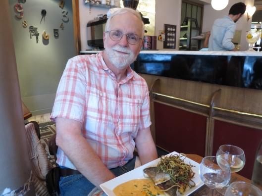 Bob's dinner at Le Verre Siffleur, 73, rue d'Alésia in the 14ème arrondissement