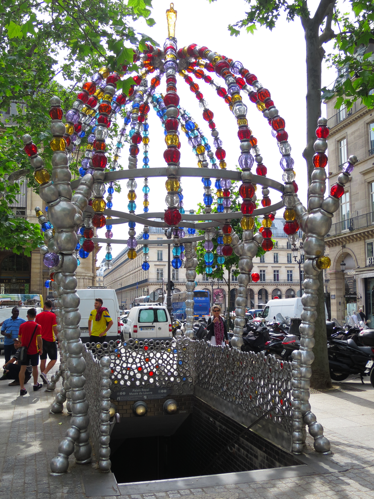 Surely the strangest métro entrance in Paris: Palais Royal