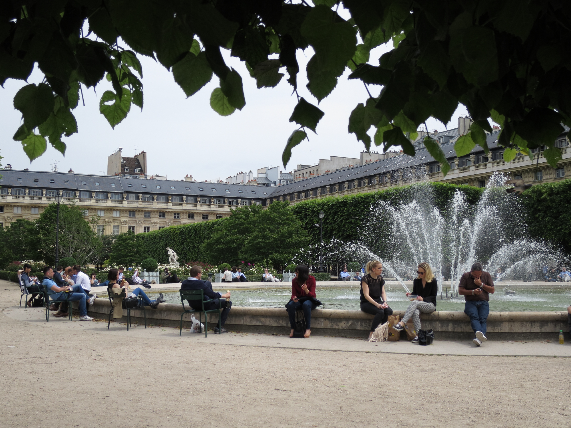 The garden of the Palais Royal