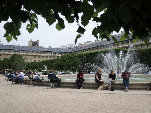 The garden of the Palais Royal