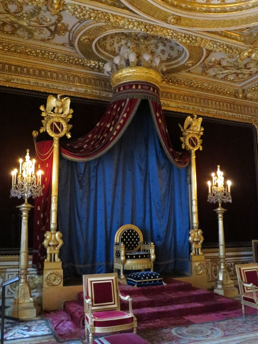 Napoleon I's throne at Fontainebleau. Yes, he was short!