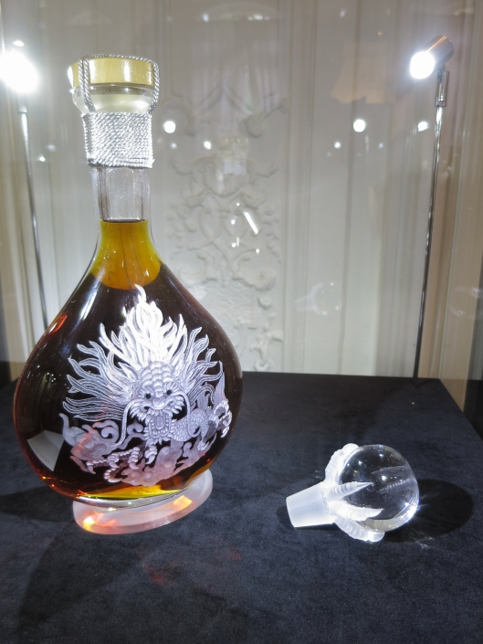 Tiffon Cognac in Crystal Dragon bottle. 2,100 euros at La Part des Anges