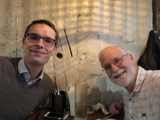 Antoine and me at lunch near Pigalle