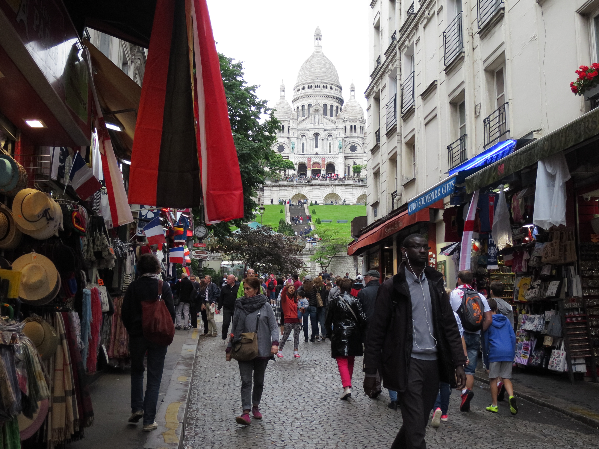 Tourist street below Montmartre