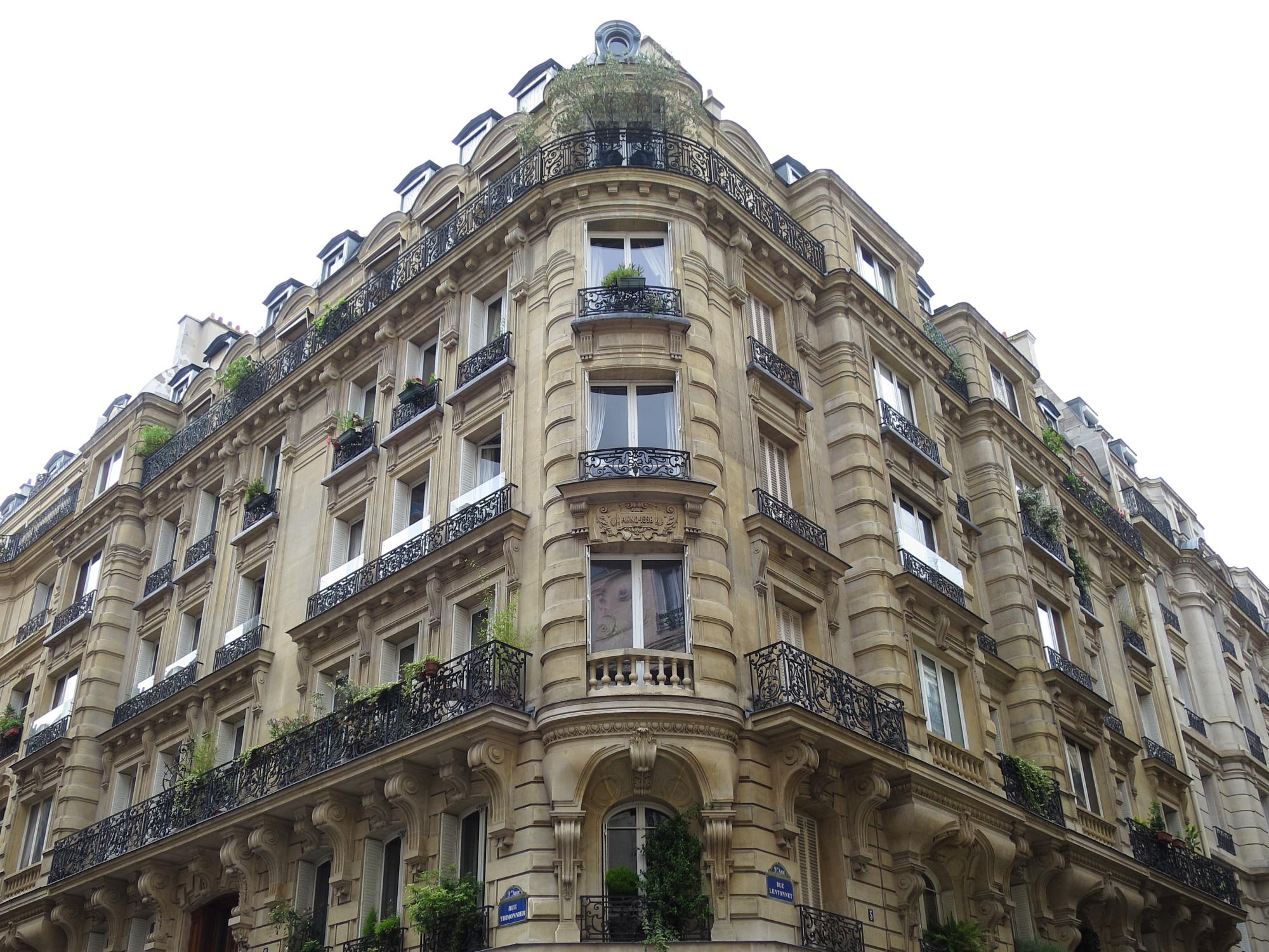 Lovely Haussmann building on rue Condorcet