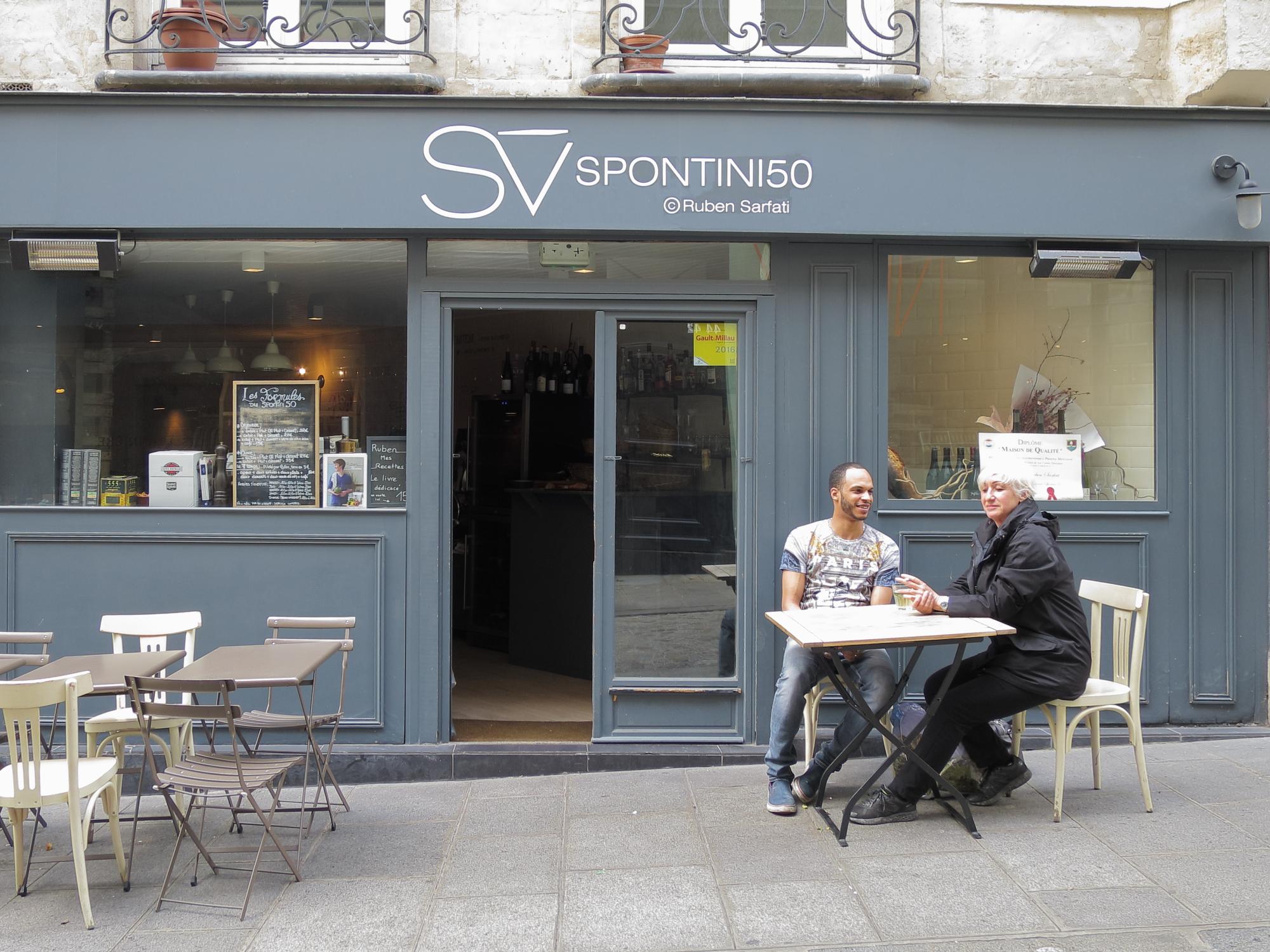 Spontini50 on rue des Petits Carreaux in the Village Montorgueil