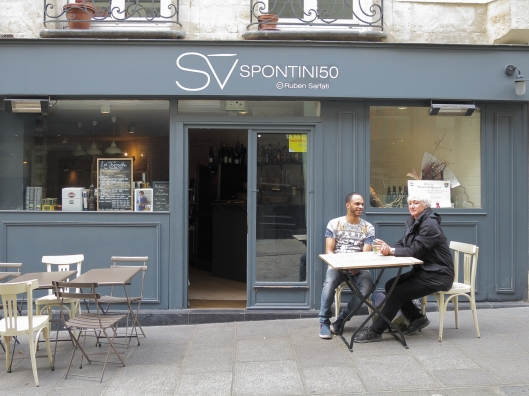 Spontini50 on rue des Petits Carreaux in the Village Montorgueil