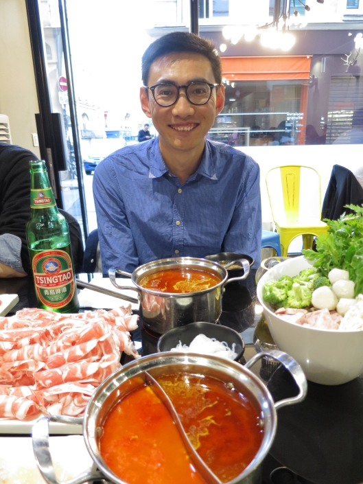 Kristoffer and our hot pots at Fondue 59