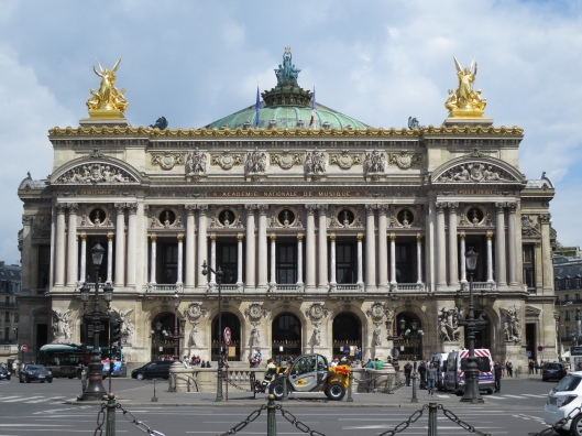 Opéra Garnier looking lovely, in a rare moment of sunshine