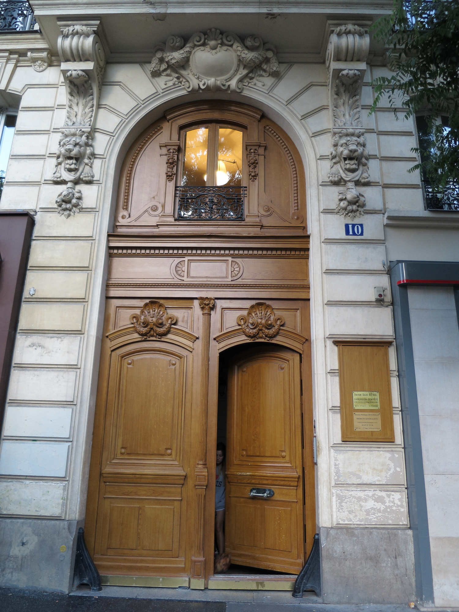 Doorway at Jordain, rue de Belleville