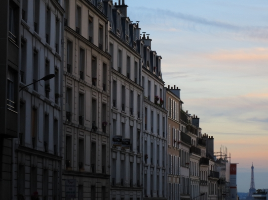 The other Paris: the Eiffel tower from rue de Belleville